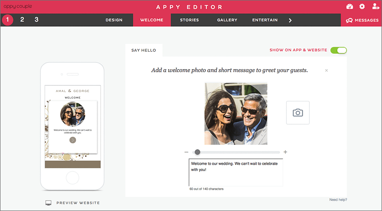 Appy Couple welcome page