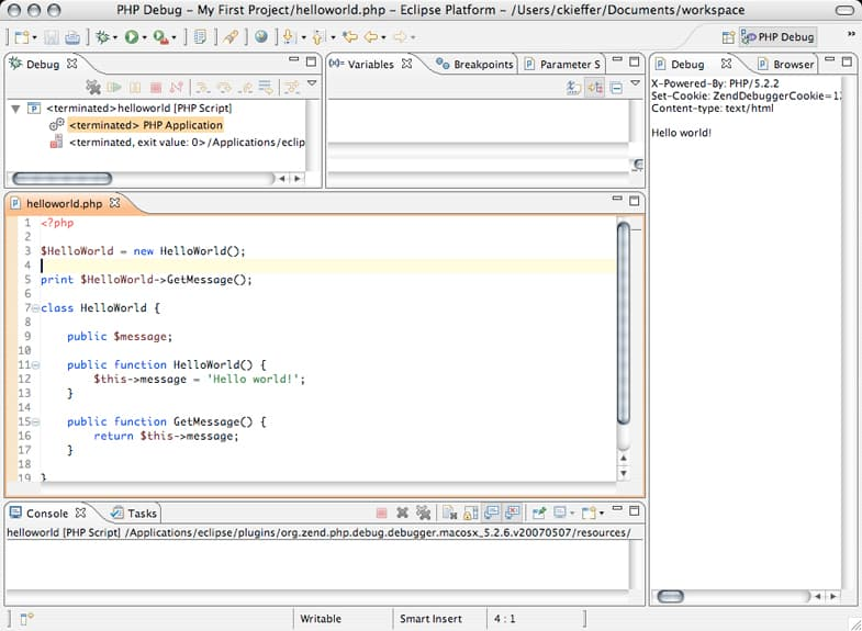 Eclipse PHP Developer Tools