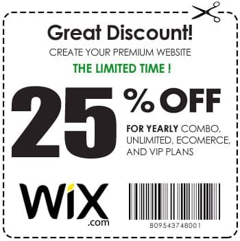 25% off Wix Promo and Coupon Code 2019 (tested and updated)