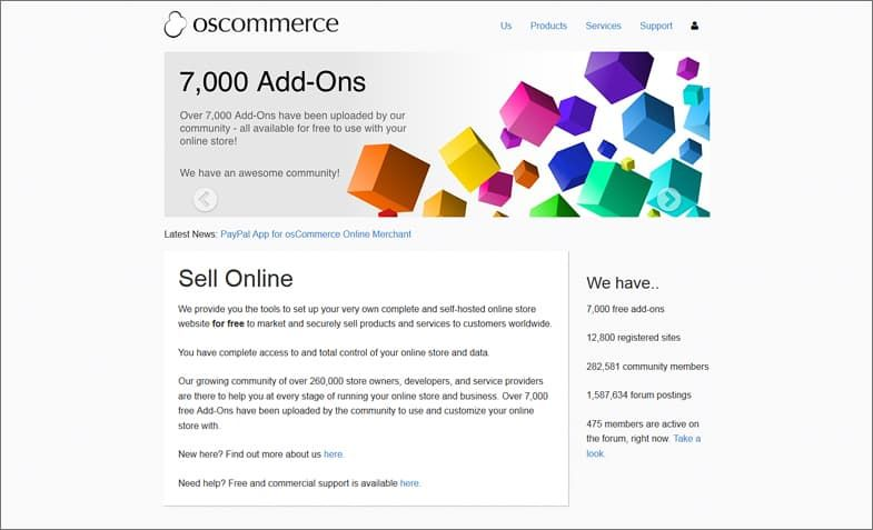 OsCommerce – the pioneers of ecommerce solutions