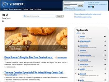 LiveJournal Website Builder for Blogs