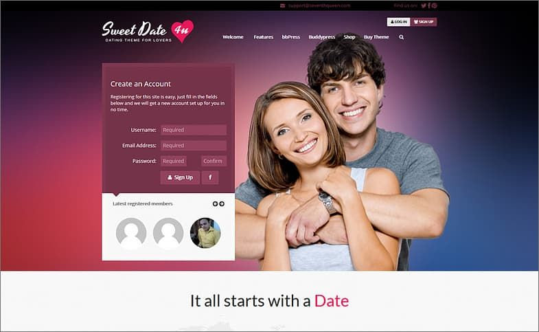 Online dating site builders