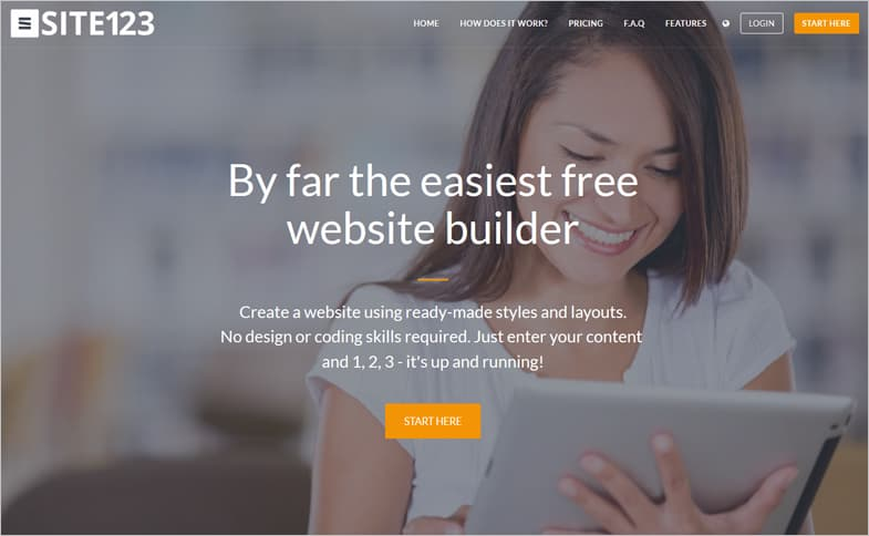 SITE123 website builders