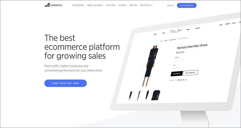 BigCommerce meilleurs éditeur de sites