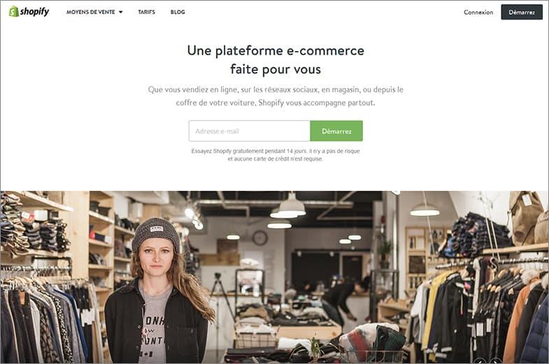 Shopify meilleurs éditeur de sites