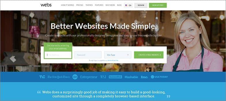 Webs meilleurs éditeur de sites