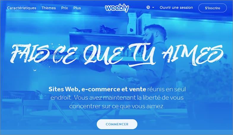 Weebly meilleurs éditeur de sites