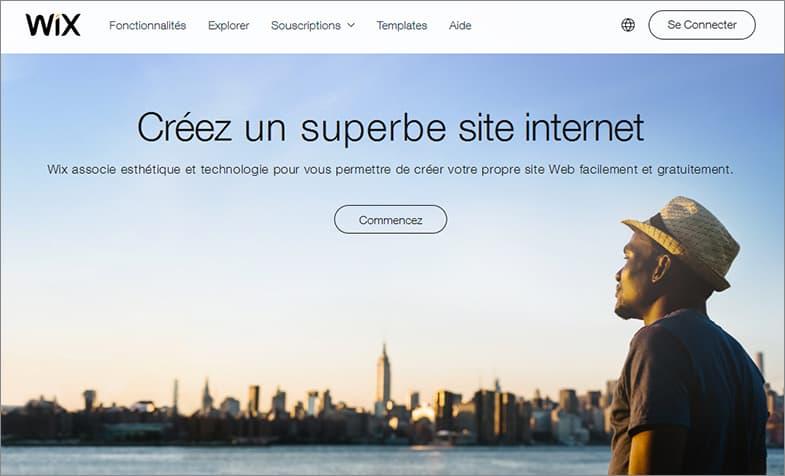 Wix meilleurs éditeur de sites