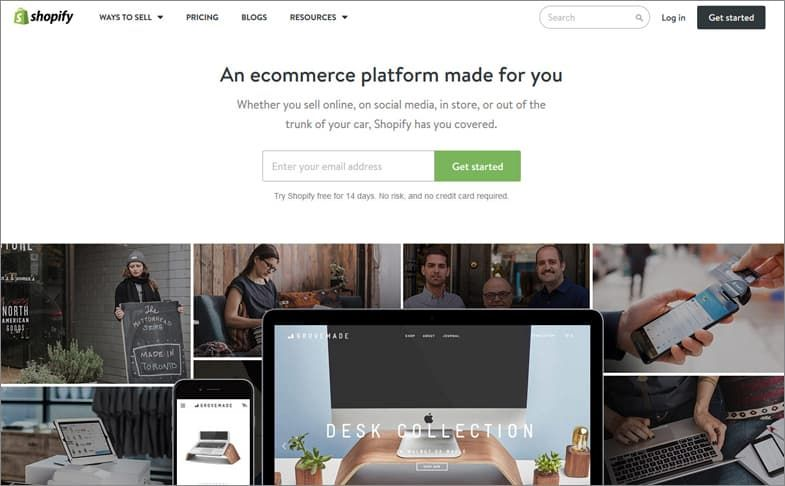 Shopify 웹사이트 빌더