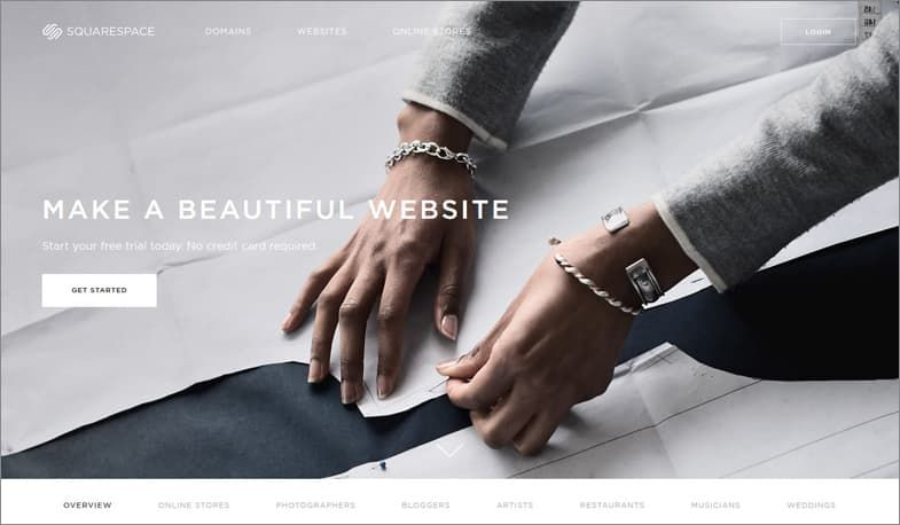 Squarespace kreator stron WWW