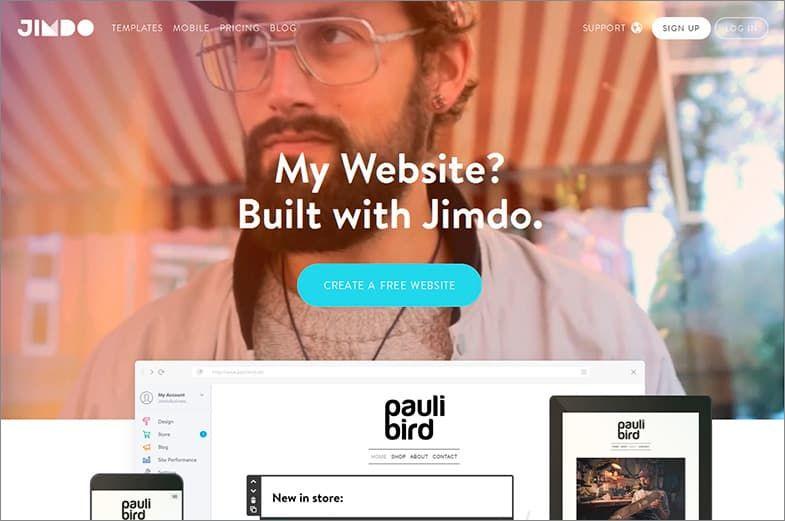 Jimdo конструктор сайтов