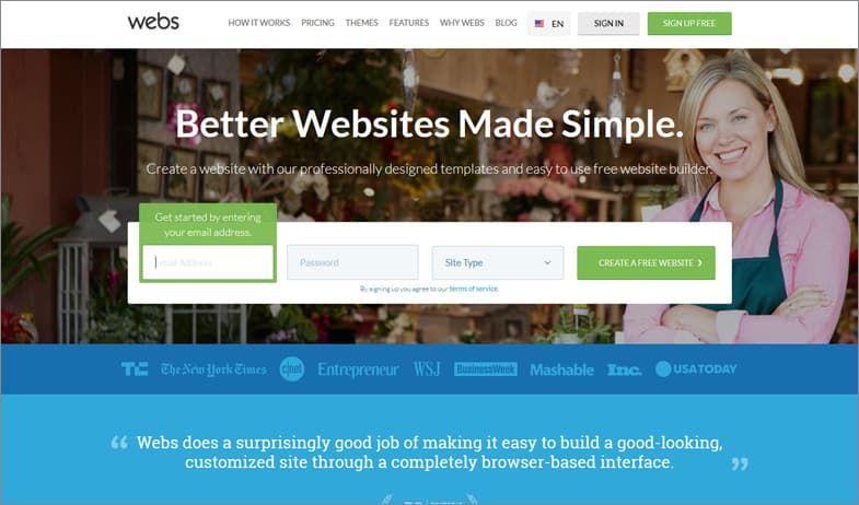 Webs конструктор сайтов