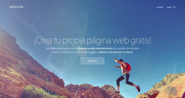 Webnode creador de sitios