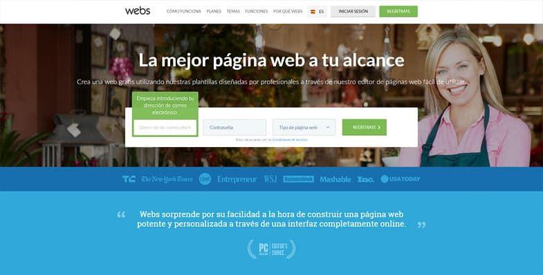 Webs creador de sitios