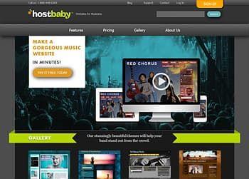 free website builder for musicians