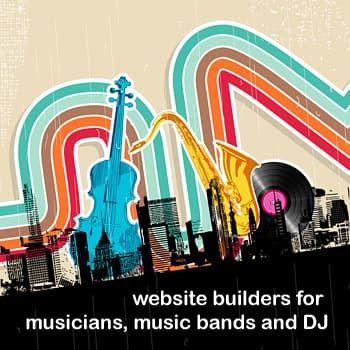 Website Builders for Musicians, Music Bands and DJ