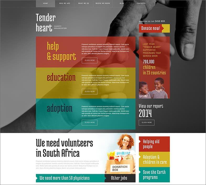 Charity Organization WordPress Theme