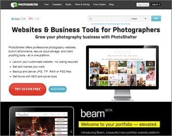 PhotoShelter Website Builder for Photographers