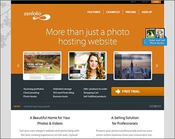 ZenFolio Website Builder for Photographers