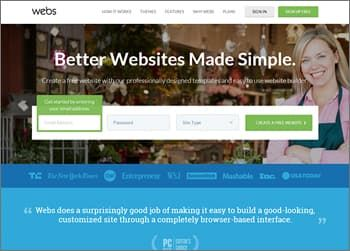Webs Website Builder for Small Business