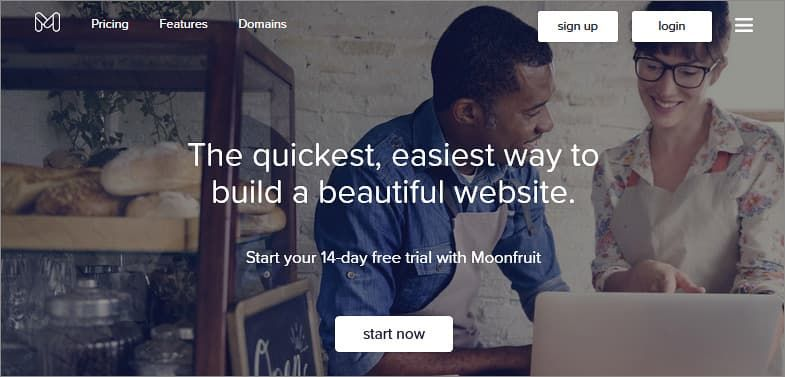 Moonfruit free website builder