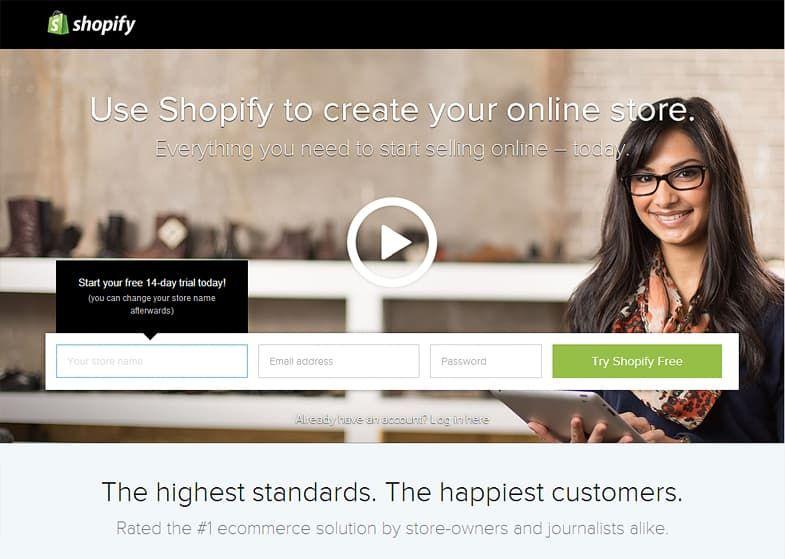 Shopify free website builder