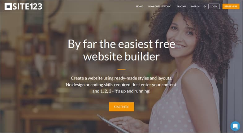 SITE123 free website builder
