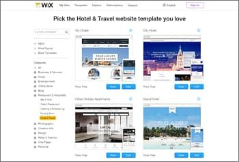 Website Builders For Travel Websites - Website template builder