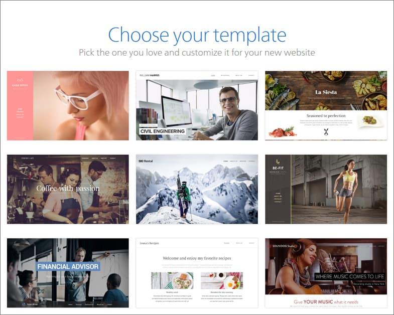 Webnode template library