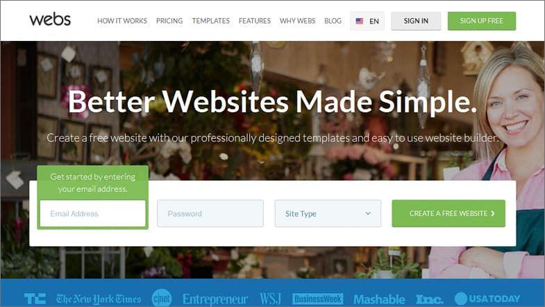 Webs Free Website Builder