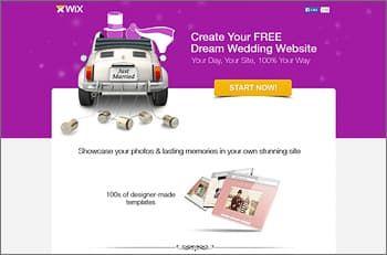 Wix Website Builder for Wedding