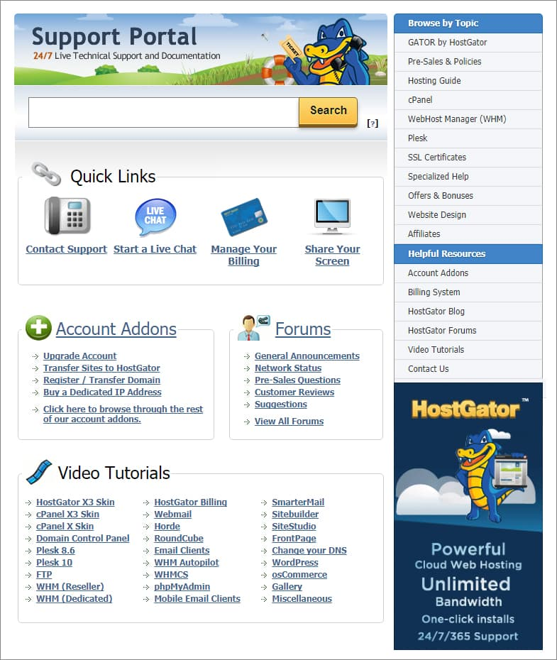 HostGator - CCustomer Support