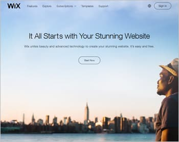 Wix Website Builder for Blogs