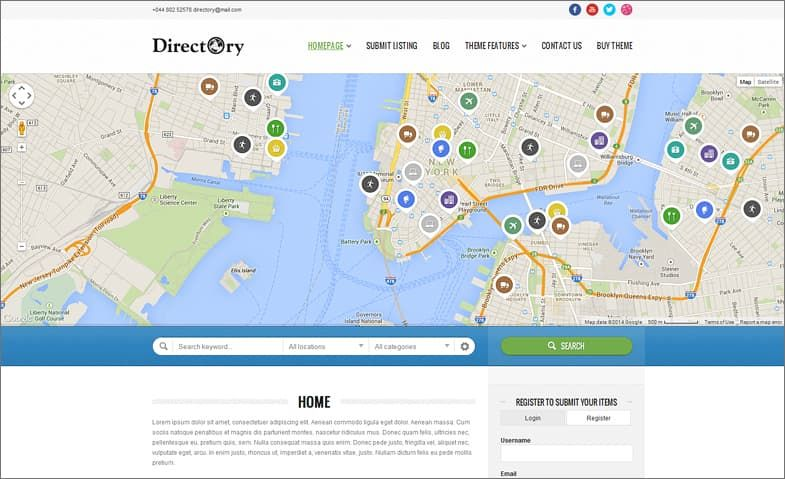 Directory Portal WordPress Theme