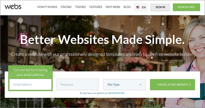 Webs website builders
