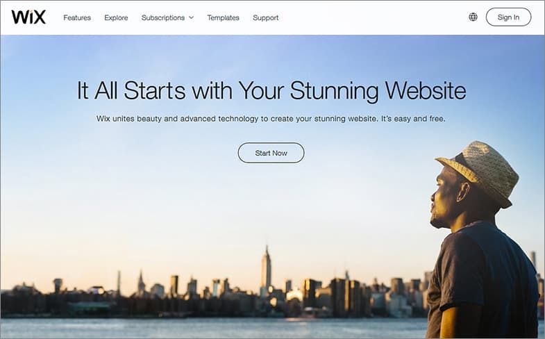 Wix website builders