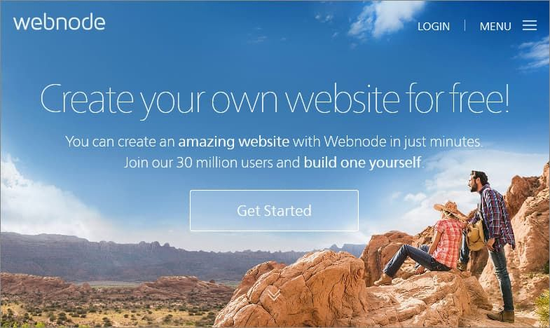 Webnode free website builder